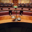 Decorative Scales of Justice in Courtroom — Foto de stock #17415301