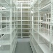 Foto de Stock  : Empty warehouse, storage racks