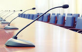 Empty conference room , starting the conference concept — Stock Photo