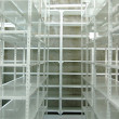 Stock Photo: Empty warehouse, storage racks