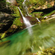 Waterfall Virje near Bovec Slovenia — Foto Stock
