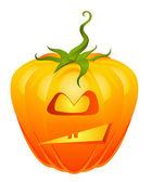 Halloweens angry pumpkin — Stock Vector