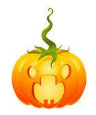 Halloweens frightened pumpkin — Vettoriale Stock