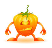 Funny Halloweens pumpkin — Vecteur