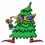 Cartoon Christmas Tree with cocktail — Stock Vector #16871283