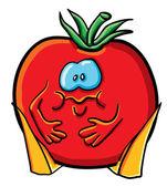 Plné komickou rajče — Stock vektor
