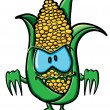 Funny cartoon corn - Stock Vector