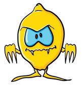 Funny cartoon lemon is Vampire — Vector de stock