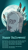 Haloween headstone — Stock Vector