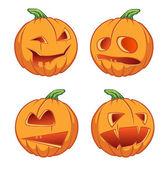 Icons pumpkins for Halloween — Stock Vector