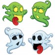 Funny cartoon ghost — Stock Vector