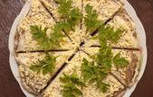 Prepared a dish - cut hepatic a pie — Stock Photo