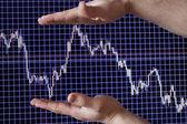 Demonstração de programações financeiras — Foto Stock