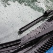 Splashes and water drops on acar windows — Stock Photo #29796301