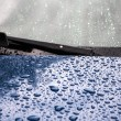 Splashes and water drops on of the car — Stock Photo