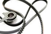 Rubber PV, gear belts and rollers — Stock Photo