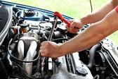 Car repairs process — Stock Photo
