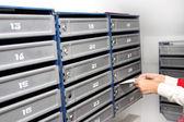 Набор пронумерованных почтовых ящиков — Стоковое фото