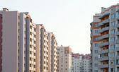 New multi-storey, brick home in the city quarter — Stock Photo