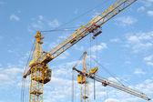 Stavební jeřáby — Stock fotografie