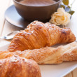 Cappuccino and Brioches — Stock Photo