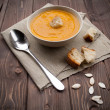 Vellutata di zucca - pumpkin soup — Stock Photo #13398258