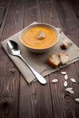 Vellutata ди zucca - тыквенный суп — Стоковое фото