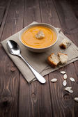 Vellutata di zucca - pumpkin soup — Stock Photo