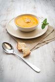 Vellutata di zucca - calabaza sopa — Foto de Stock