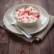 Rice with pomegranate — Stock Photo