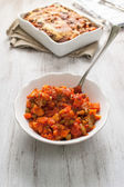 Cooked veggies for vegetarian lasagne — Stock Photo