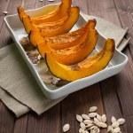 Pumpkin slice baked — Stock Photo