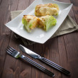 Roulade of cabbage and rice — Stock Photo