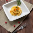 Pasta with pumpkin — Stock Photo