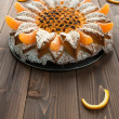 Cake to the mandarine - Stock Photo
