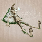 Relaxed elf — Stock Photo