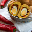 Royalty-Free Stock Photo: Bun with egg surprise