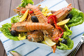 Lobster salad — Stock Photo