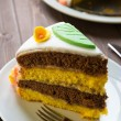 Foto Stock: Decorated layer cake