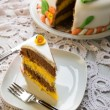 Decorated layer cake - Stock fotografie