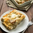 Lasagna with artichokes - Stock Photo