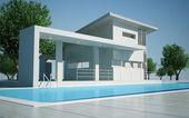 Modern villa day view — Stock Photo