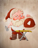 Santa Claus with flatiron — Stock Photo
