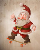 Santa Claus on skateboard — Stock Photo