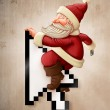 Santa Claus and shopping on-line — Stock Photo