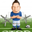 Stock Photo: Soccer strong defender