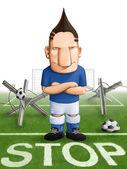Soccer strong defender — Stok fotoğraf