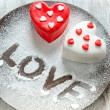 Stock Photo: Heart cup cake