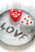 Heart cup cake — Stock Photo