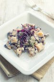 Gnocchi to the red cabbage — Stock Photo